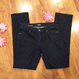 Loft dark wash jeans 28/6 modern straight